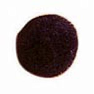 Black - Pom Poms - .39 inch - 10mm - 100 pieces