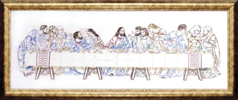 The Last Supper 9 x 24inch Embroidery Kit