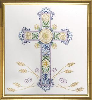 Ornate Cross 13 x 14 inch Embroidery Kit