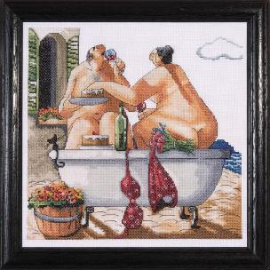 Bathing Beauties 12 x 12 inch Ccounted Cross Stitch Kit