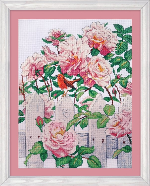 Roses in Provence 12 x 16 inch Counted Cross Stitch Kit