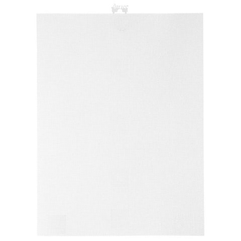 14 count White Mesh Plastic Canvas - 8.5 x 11 inch