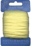 Light Yellow Acrylic Yarn - 20 yard