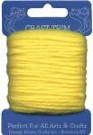 Yellow Acrylic Yarn - 20 yard