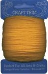 Dark Yellow Acrylic Yarn - 20 yard