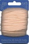 Peach Craft Trim Acrylic Yarn - 20 yard