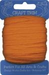 Orange Craft Trim Acrylic Yarn - 20 yard