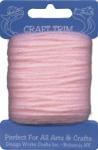 Light Pink Acrylic Yarn - 20 yard