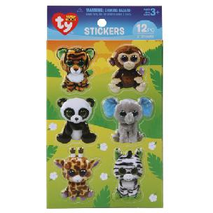 ty  Beanie Boo Jungle Puffy 3-D Stickers