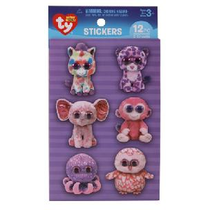 ty  Beanie Boo Girl Wiggle-Eye Stickers