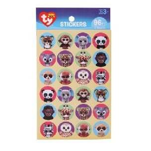 ty  Beanie Boo Jungle Paper Stickers