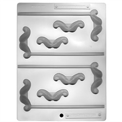 Mustache Candy Pieces Sheet Mold - From LorAnn Oils
