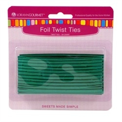 Twist Ties - Metallic Green - 50 pc/pk LorAnn