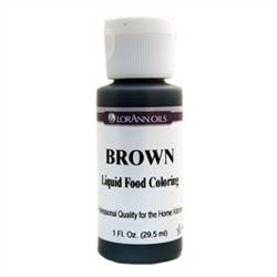 Brown LorAnn Gourmet Liquid Food Color 1 oz