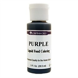 Purple - LorAnn Gourmet Liquid Food Color 1 oz