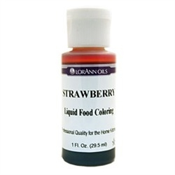 Strawberry - LorAnn Gourmet Liquid Food Color 1 oz