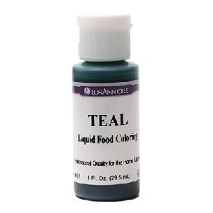 Teal - LorAnn Gourmet Liquid Food Color 1 oz