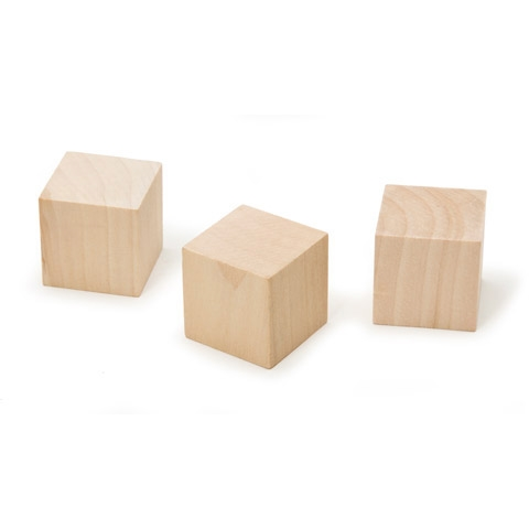 Wood Cube - 1-1/4 inches - 3 pieces
