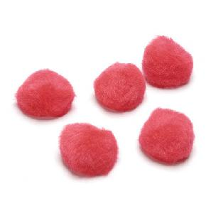 Red - Pom Poms - 1 inch - 40 pieces