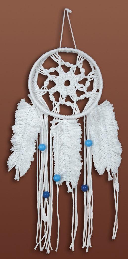 Feathered Dreamcatcher Macrame' Wall Hanging Kit 6 x 16 inch