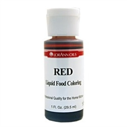Red - LorAnn Gourmet Liquid Food Color 1 oz
