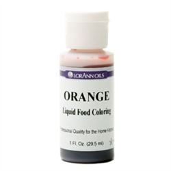 Orange - LorAnn Gourmet Liquid Food Color 1 oz Bottle