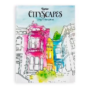 Darice Adult Coloring Book - CityScapes - 32 pages