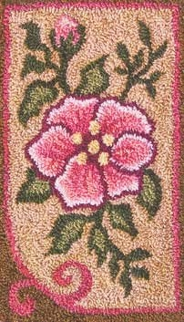 Rose - by Jeri Kelly Punchneedle Design on Weaver's Cloth