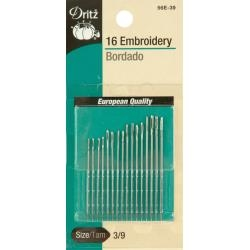 Size 1/5 - Dritz Embroidery Hand Needles 12/Pkg