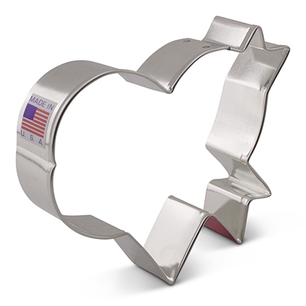 Heart with Banner - LilaLoa's Cookie Cutter, 3.5 x 4 inch