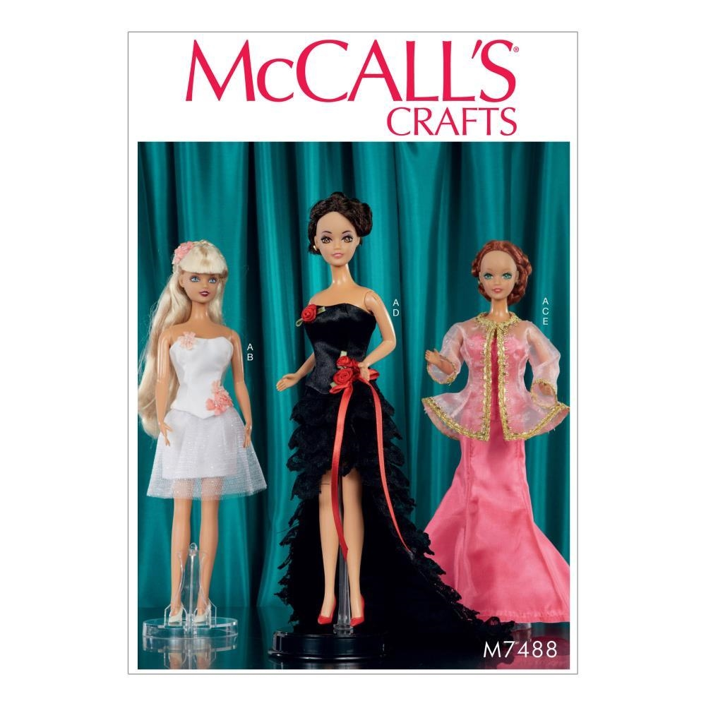 Special Occasion Dresses for 11 inch Doll - McCall's Pattern M7488
