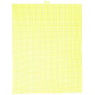 Neon Yellow 7 mesh plastic canvas sheet 10.5