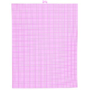 Neon Pink 7 mesh plastic canvas sheet 10.5
