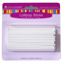 Lollipop Sticks, Small (100 pack) 4 inch