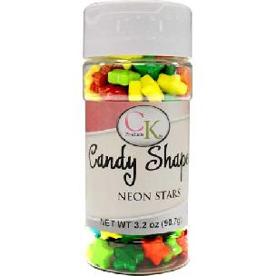 Neon Stars Candy Shapes - 3.2 oz