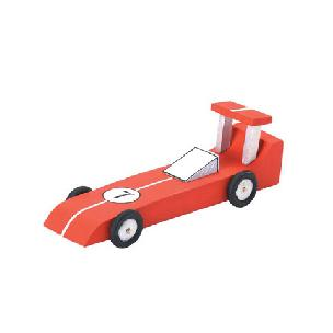 Race Car - Wood Model Kit - 6-1/4 x 2-1/8 inches