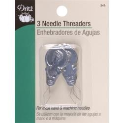 3 Metal Needle Threaders - Dritz