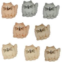 Fat Cats Buttons - 6 pieces