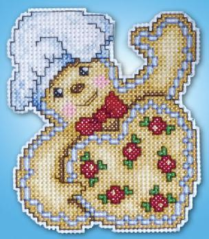 Counted Cross Stitch Ornament Kit - Gingerbread