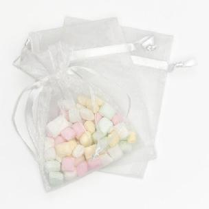 Organza Favor Bags - White - 4 x 5.5 - 3 pcs