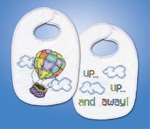 Up Up and Away Baby Bib Set - By Tobin