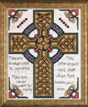 Celtic Cross 8x 10 inch Counted Cross Stitch Kit