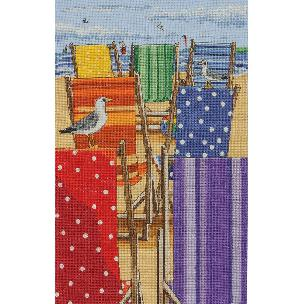 Rainbow Deck Chairs Counted Cross Stitch Kit