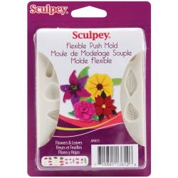 Flowers and Leaves - Sculpey Flexible Push Mold