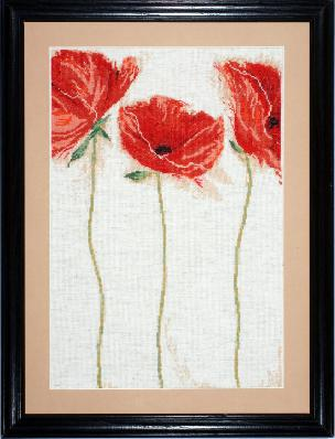 Flamenco Poppies 12 x 18 inch Counted Cross Stitch Kit