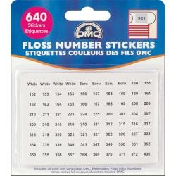 Floss Number Stickers - DMC