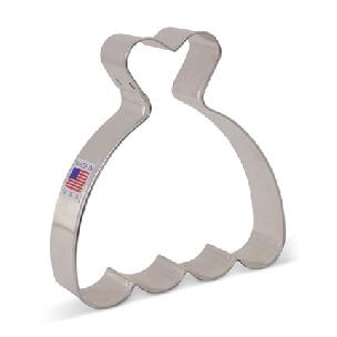 Wedding Dress Cookie Cutter 4 inch