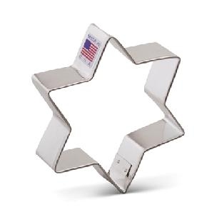 Star of David - 6 point Cookie Cutter 3 3/4 inches