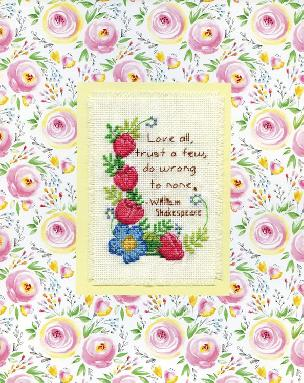 Love All - Stitch and Mat 8 x 10 inch