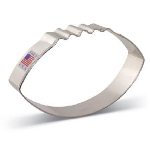 Football Cookie Cutter 4 3/8 inch